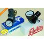 Regulador De Pressão Com Manômetro Rosca 1/4 Para Compressor