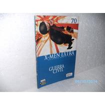 Hq Guerra Civil Nº 70 X - Men Extra Gibi Fj.jr