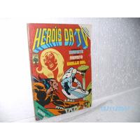 Hq Heróis Da Tv# 52 Com Dicionário Marvel Gibi Equipe Fj