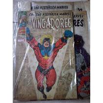 Coleção Histórica Marvel Os Vingadores Nº 1 Com A Caixa.