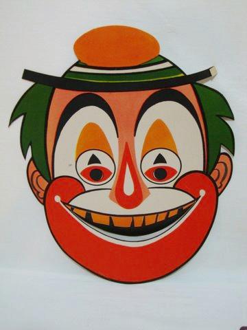 Máscara De Carnaval Antiga - Palhaço