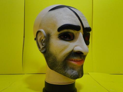 Mascara Pirata Bandido Jack Sparrow Latex Adulto - mascara-pirata-bandido-jack-sparrow-latex-adulto-23194-MLB20243052866_022015-O