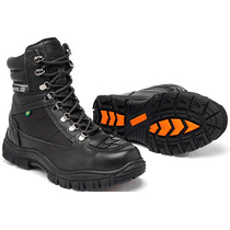 Coturno Bota Adventure Couro, Trekking Palmilha Gel Anatomic