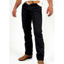Calça Jeans Sarja Preta Black Slin Fit Lycra Stretch 34 - 58