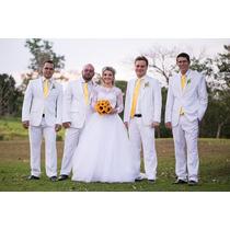 Terno Branco Para Noivo Ou Padrinhos De Casamento Tam 46