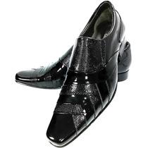 Sapato Social Masculino Solado Em Couro Costurado Sapatofran