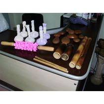 Rolo Massagem Turbinada +kit Pedras+kit Bambu+kit Pindas