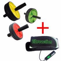 Vibroaction Cinto Vibrador Redutor D Medidas+ Roda Abdominal