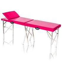 Mesa De Massagem Dobrável Divã Maca Portátil Reclinável Pink