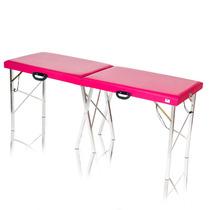 Mesa De Massagem Dobrável Divã Maca Portátil Pink