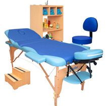 Kit Estética: Mesa Massagem Carrinho Auxiliar Escada E Mocho