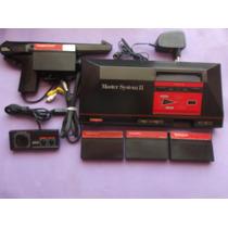 Sega Master System 2-alex Kidd Com Pistola + 4 Jogos-100%ok