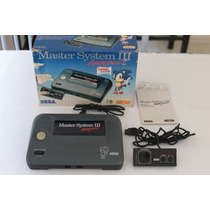 Master System 3 Compact Na Caixa + Manual + Sonic + Controle