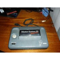 Master System 3 Com Sonic Na Memória Só O Console. 100%