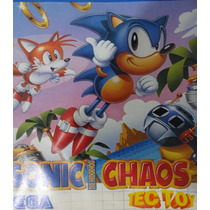 Jjogo De Master System - Sonic Chaos - ( Tec Toy)