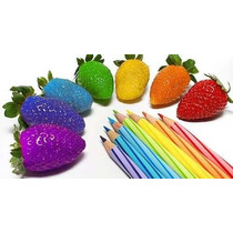 10 Sementes De Morangos Coloridos + Frete Grátis
