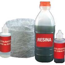 Kit Resina Poliester 1kg+manta De Fibra De Vidro500g.