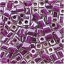 Miyuki 4mm Contas Tcheco Vidro Roxo Cristal 243 10 Gramas