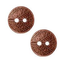 Tierracast Botão Prensado Folha Pewter Antiga Folhado Bronze
