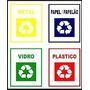 Adesivo Reciclagem Para Identificação De Lixeiras
