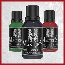 Kit 3 Tintas Tatuagem Masters Ink Tatoo 30 Ml - Várias Cores