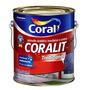 Tinta Coral Esmalte Coralit Acetinado Ou Fosco Preto 3,6l