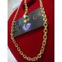 Conjunto Pulseira Corrente 70 Cm Cartier F Ouro 24k Frete G