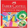Lápis De Cor 24 Cores Triangular Faber Castell