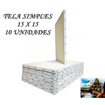 Tela Pintura Simples Souzart 10 Uni. Med. 15 X 15 Rbnrock