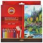 Lápis Aquarelável Koh-i-noor 72 Cores Mondeluz + 3 Pincéis