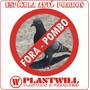 Espícula Anti Pombos C/ Hastes Duplas De Arame Galvanizado