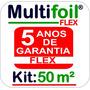 Manta Térmica Para Telhado M² 2 Faces (flex) - 50 M²