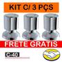 Kit C/3 Pçs Acabamento P/ Registro Estilo Deca Frete Grátis