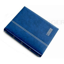 Classificador Selos Lindner De 60pgs Pretas, Capa Azul