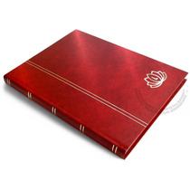 Classificador Selos Lindner De 16pgs Pretas, Capa Vermelha