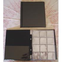 Álbum Para 120 Moedas. (20 X 23 Cm). Capa Com 10 Folhas Pvc
