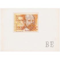 Folder: Especificações Da Cédula De 200 Pesetas / Espanha