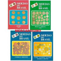 4 Catálogos De Moedas Do Brasil Ouro Prata Cobre Niquel