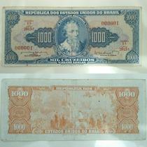 Cédula Antiga N°000001 Mil Cruzeiros Pedro Álvares Cabral