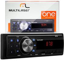 Radio Mp3 Usb Sd Aux Carro Automotivo Multilaser One