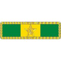 6bts1 Barreta De Medalha Militar Tempo De Serviço 10 Anos-un
