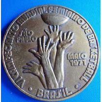 Basquete-medalha Bronze Campeonato Mundial Feminino-1971