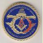 Medalha Símbolo Maçônico Maçonaria Banho Ouro 40mm R$ 58,00