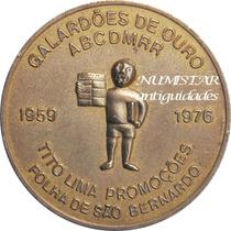 Medalha Folha São Bernardo Do Campo Galardões De Ouro 1976