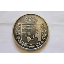 Medalha De Prata 1º Congresso Lusobrasileiro De Numismática