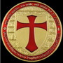 Medalha Cavaleiros Templários Banho Ouro 24k 40mm R$ 34,00