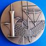Brasilia 50 Anos-medalha Bronze-nova C.moeda+estj E Cerf