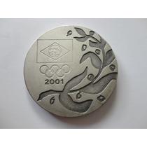 1 Século De História Olímpica-2001 -prata 900 Cmb