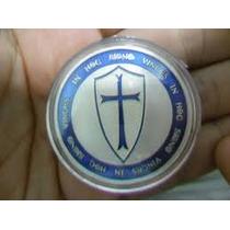 Medalha Cavaleiros Templários Banho Prata.999 40mm R$ 28,00
