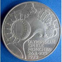 Moeda Prata Alemanha-10 D.m.jogos Olimpicos De Munique 1972-